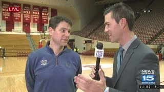 Fort Wayne Mastodons knock off Indiana Hoosiers for second year in a row, coach Jon Coffman on WANE-