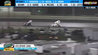 Knoxville Raceway 410 Highlights - July 4, 2020
