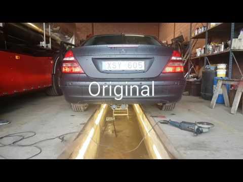 Mercedes Benz W211 e240 muffler delete
