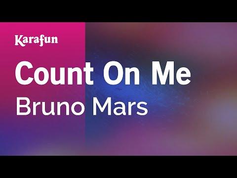 Count On Me - Bruno Mars   Karaoke Version   KaraFun