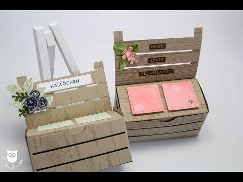 Romantische Truhenbank mit der Holzkiste von Stampin' Up!
