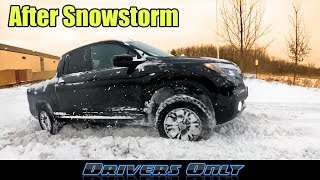 Honda Ridgeline Off-Road Testing after SNOWSTORM - Can It Handle Deep Winter Snow?