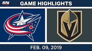 NHL Highlights | Blue Jackets vs. Golden Knights - Feb 9, 2019