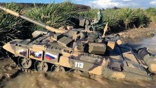 RC Panzer T-90 Heng Long ♦ EXTREME MUD BATTLE!