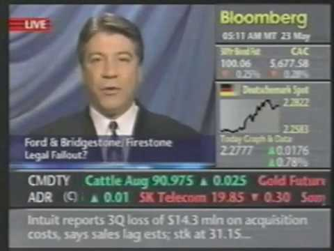 Ford/Firestone Lawsuit - Bloomberg News - May 23, 2001 Video Image