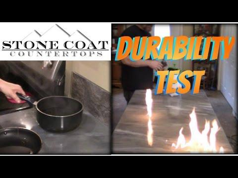 Epoxy Countertop Durability Test.  WOW!