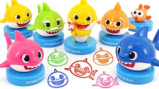 Pinkfong, baby shark shark family stamp play!   PinkyPopTOY
