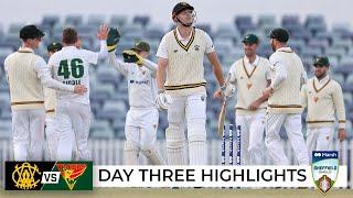 Green goes cheaply as Tassie strike late on shortened day | Sheffield Shield