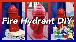 DIY Fire Hydrant Table Centerpieces Prop  | Paw Patrol Party Decor