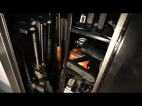 Stack On 18 gun cabinet (Cabela's Edition)...how many firearms can you expect it to hold?