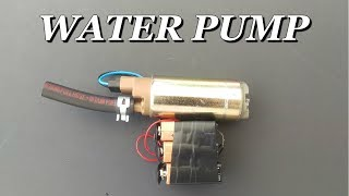 How To Make a Water Pump using 9v Batteries