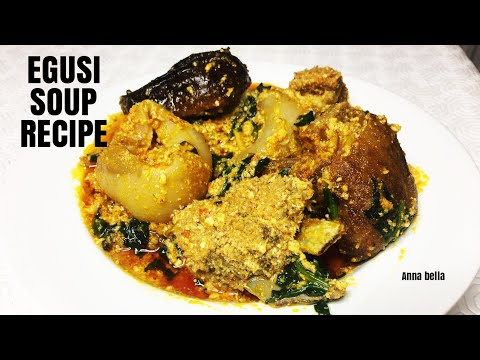 HOW TO MAKE BEST NIGERIAN EGUSI SOUP WITH SPINACH