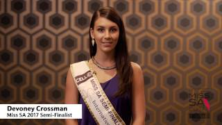 Introduction Video of Devoney Crossman Miss South Africa 2017 Contestant from Greenstone Hill, Gauteng