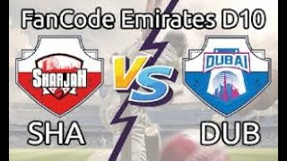 Abu Dhabi vs SHA D10 Live || Emirates D10 League || Cricket|| Today Match ||Live Cricket Match Today
