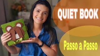 COMO FAZER QUIET BOOK / LIVRO SENSORIAL EM FELTRO. AULA 1