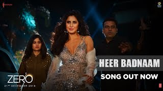 "Presenting the video song ""Heer Badnaam"" from the most awaited Bollywood movie ""Zero"". The song is sung by Romy, music composed by Tanishk Bagchi and lyrics are penned by Kumaar. The film is starring Shah Rukh Khan, Anushka Sharma and Katrina Kaif and directed by Aanand L Rai.  Movie Releases in cinemas On ► 21st December, 2018.   #ShahRukhKhan #KatrinaKaifItemSong #HeerBadnam #Zero  ♪ Film : Zero  ♪ Song - Heer Badnaam ♪ Singer - Romy ♪ Music - Tanishk Bagchi ♪ Composed and Programmed: Tanishk Bagchi ♪ Lyrics - Kumaar  ♪ Songs Mixed And Mastered By Eric Pillai@Future Sound Of Bombay ♪ Mix Assistant Engineers - Michael Edwin Pillai ♪ Label - T-SERIES ------------------------------------------------------------------------------------------------------- Enjoy & stay connected with us! ► Subscribe to T-Series: http://bit.ly/TSeriesYouTube ► Like us on Facebook: https://www.facebook.com/tseriesmusic ► Follow us on Twitter: https://twitter.com/tseries ► Follow us on Instagram: http://bit.ly/InstagramTseries"