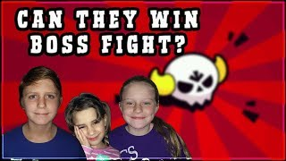 BOSS FIGHT With My Kids | Brawl Stars