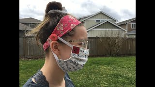 How To Sew Headbands, With Added Buttons For Wearing Medical Face Masks DIY Sew-Along Tutorial