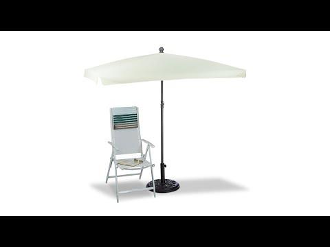 Sonnenschirm rechteckig 200 x 120 cm