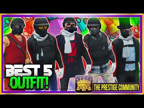 BEST 5 RNG/TRYHARD OUTFITS IN GTA 5 ONLINE 1.40! ''Top 5 RNG Outfits'' (GTA 5 Clothing Glitches 1.40