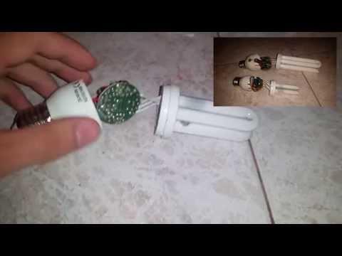 Cosa c'è dentro una lampada a risparmio energetico e cosa riciclare!