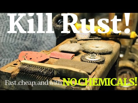 How To Get Rid of Rust Without Chemicals   Mechanical Rust Removal   Easy Rust Remove W/ Basic Tools