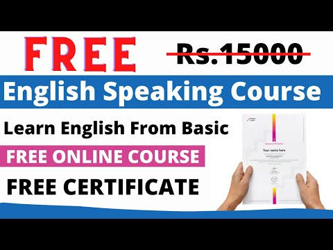 FREE English Speaking Course with FREE Certificate | Free Online ...