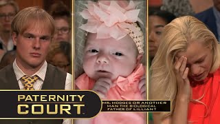 Hodges v. Willard: An Alabama man brings his unfaithful ex-fiancé to court, seeking to uncover the truth surrounding the paternity of her one-month old baby girl.  Subscribe: https://bit.ly/PaternityCourtYT   Follow Paternity Court on Social Media: Facebook: https://www.facebook.com/PaternityCourt/ Twitter: https://twitter.com/PaternityCourt Instagram: @PaternityCourtTV  Follow MGM Television on Social Media: Facebook: https://www.facebook.com/MGMTelevision Twitter: https://twitter.com/MGMTelevision  Instagram: @MGM_Television  Woman Got Engaged While Married To Another Man (Full Episode) | Paternity Court https://youtu.be/uCca6x2C6NI  #PaternityCourt #LaurenLake  Season 6, Episode 11