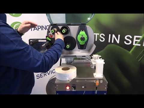Elastobinder: Installing the ribbon and labels