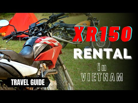 Honda XR Dual sport motorbike