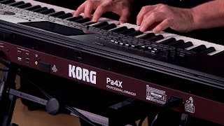 Gambar cover Korg Pa4X Arranger Workstation Keyboard Performance with Steve McNally