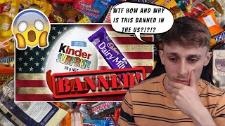 British Guy Reacting 20 Foods That Are Banned In The USA
