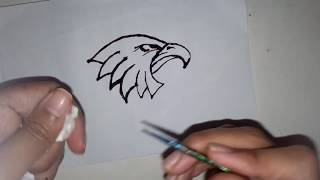 How To Make  Easy Eagle Tattoo With Mehndi 2018