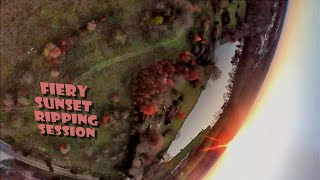 Fiery Sunset Ripping Session   Forck-In Quad FPV Freestyle Insta360 GO