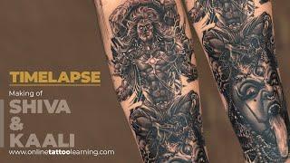 Realism Tattoo Timelapse - Making Of Lord Shiva - Goddess Kali Tattoo