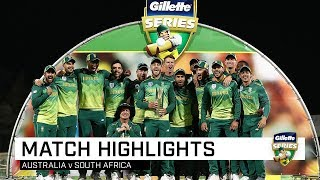 Proteas claim series in high-scoring clash | Australia v South Africa | Third ODI, 2018-19