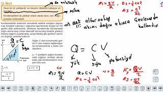 Eğitim Vadisi AYT Fizik 13.Föy Elektrik ve Manyetizma 3 (Kondansatörler ve Sığaçlar) Konu Anlatım Videoları