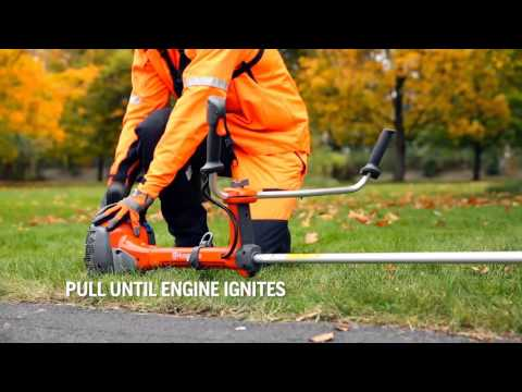 How to start Husqvarna brushcutter