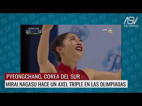Mirai Nagasu hace axel triple en las olimpiadas de invierno PyeongChang 2018
