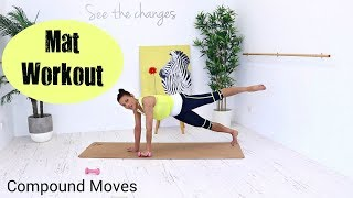 Total Body Workout Pilates Fusion Workout - Barlates Body Blitz Body Mat Workout Compound Moves by Linda Wooldridge