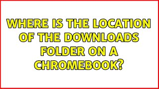Where is the location of the downloads folder on a ChromeBook? (4 Solutions!!)