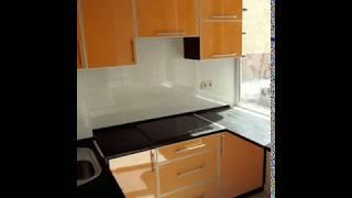 Кухня фото  № 68 алюминиевом профиле цвет Оранжевый. от компании Фаберме - видео