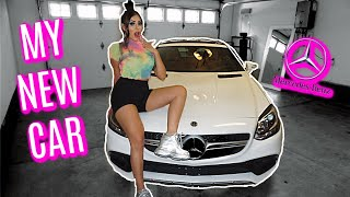 I BOUGHT A NEW CAR!! | CAR TOUR - 2019 MERCEDES SLC 300 🤑