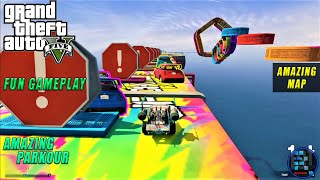 GTA V | Amazing Parkour Race With RON