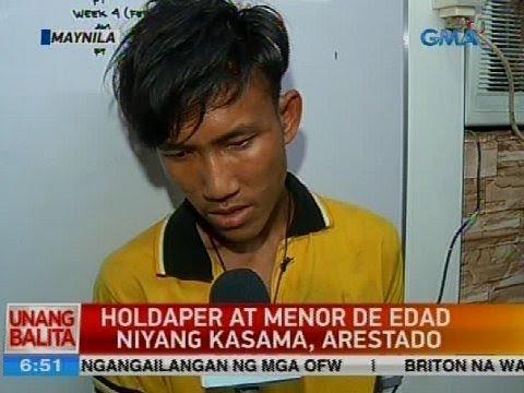 Holdaper at menor de edad niyang kasama, arestado