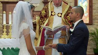 Marriage Vows and Rings Exchange   An Indian Wedding at St. Francis de Sales Catholic Church in Ajax
