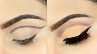(3 Steps कट क्रीज़) Easy 3 Steps Cut Crease Eye Makeup For Hooded Eyes | Deepti Ghai Sharma