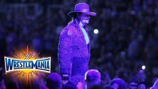 The Undertaker makes perhaps his final WrestleMania entrance: WrestleMania 33 (WWE Network)