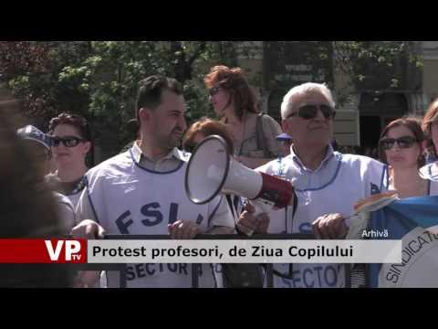 Protest profesori, de Ziua Copilului
