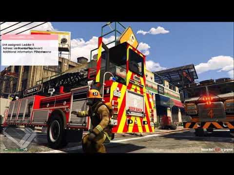 GTA 5 Firefighter Mod Brand New Tiller Ladder Firetruck Responding
